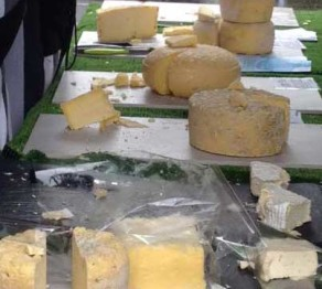 Cheeses at Tottenham Green Market