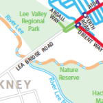 Tour de France Lee Valley map